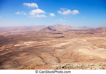 Northern Fuerteventura, view west from Montana Roja (Red...