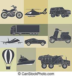 transport - vector illustration of set of means of transport...