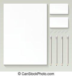 Branding mock up - Vector realistic branding mock up,...