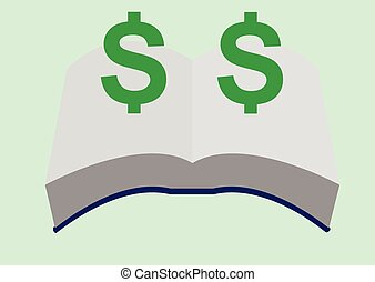 Book And Money Symbol