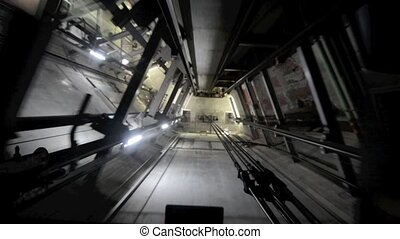 shaft elevator of Auckland sky towr - The shaft elevator of...