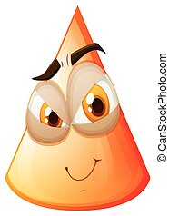 Orange cone with face