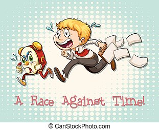 Idiom race against time