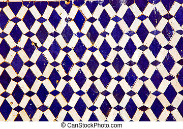 abstract morocco in africa blue - abstract morocco in africa...
