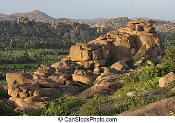 Hampi - Landscape around Hampi in South India