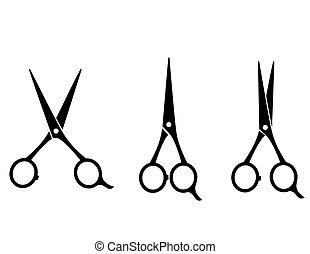 isolated cutting scissors