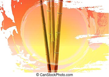 Bamboo sunset