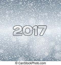 Blue Snow 2017 - Blue background with falling snow and...
