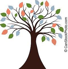 Decorative Tree Silhouette - colourfull