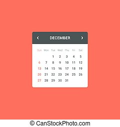 Calendar Widget - Flat calendar widget for web and mobile...