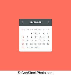 Calendar Widget - Flat calendar widget for web and mobile...