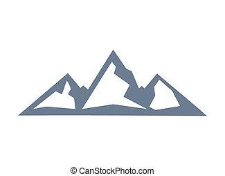 Mountain vector sign