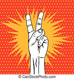 The Victory sign