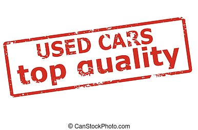Used cars - Rubber stamp with text used car inside, vector...