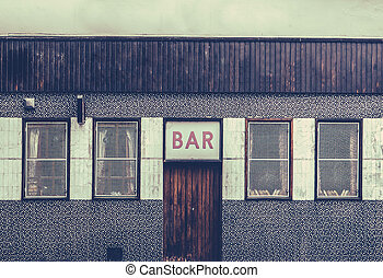 Retro Grungy Urban Bar - Retro Filtered Image Of A Grungy...