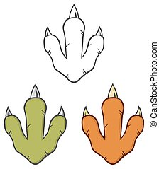 Dinosaur Paw Collection Set - Dinosaur Paw With Claws....