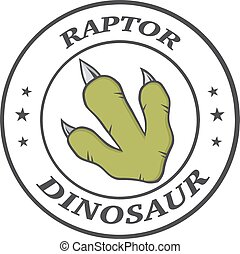 Dinosaur Paw With Claws Circle