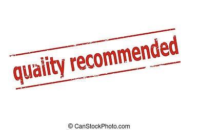 Quality recommended - Rubber stamp with text quality...
