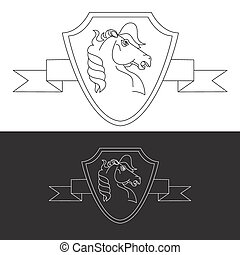 Horse symbol and logo, great power sign