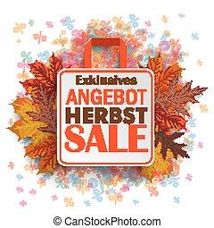 Shopping Bag Autumn Angebot Percents - German text bestes...
