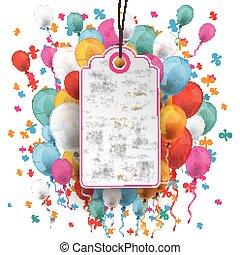 Price Sticker Balloons Percents Confetti - Price sticker...