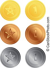 Coins - Vector illustration of shiny coins or medals