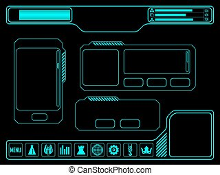 Space game asset - Vector elements for space video game