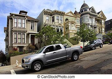 Alamo Square - San Francisco, CA, USA - September 12, 2013:...