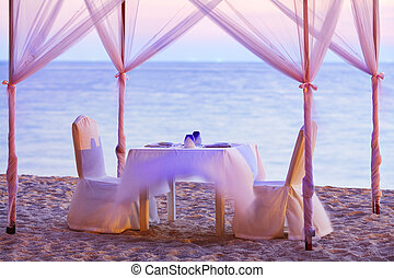 A good place for romantic dinner on the beach. Long exposure...