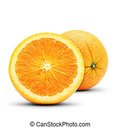 Perfect orange composition Isolated on white background