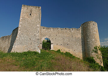 old city walls in Abruzzo in central Italy