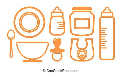 Baby vector icons