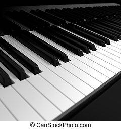 piano, teclado