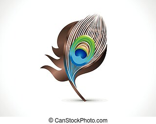abstract artistic peacock feather.eps