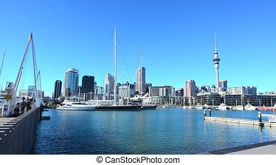 Auckland downtown skyline NZL - Auckland downtown...