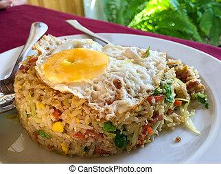 Nasi Goreng rice plate.