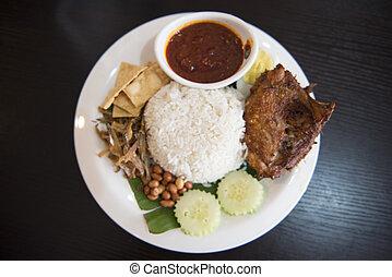 """""""nasi lemak"""" national food of Malaysia"""