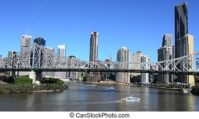 Brisbane Skyline Australia - The Story Bridge.It's the...
