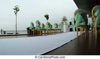 Weddings ceremony at river