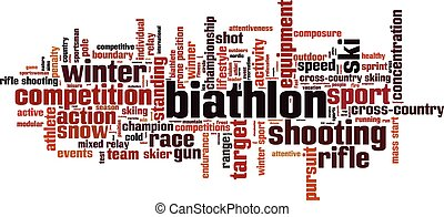 Biathlon [Converted].eps - Biathlon word cloud concept....