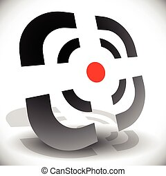 Crosshair, reticle icon for accuracy, alignment, targeting...