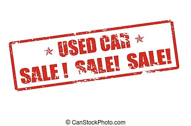 Used car - Rubber stamp with text used car inside, vector...