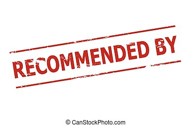 Recommended by - Rubber stamp with text recommended by...