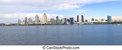 San Diego California, skyline panorama.