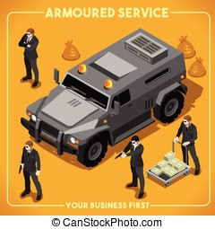 Armoured 02 Vehicle Isometric - Armoured Service Heavy...