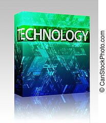 Data illustration box package - Software package box Data...