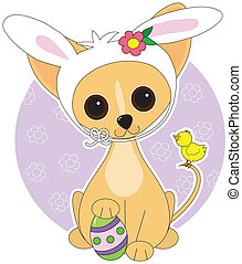 Chihuahua Easter - Chihuahua dressed for Easter