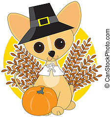 Chihuahua Thanksgiving - Chihuahua dressed for Thanksgiving