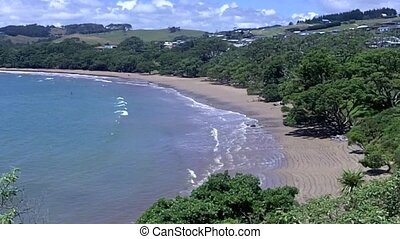 Coopers beach northland NZL - Aerial view of Coopers beach...