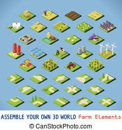 City 02 COMPLETE Set Isometric - City Map Elements COMPLETE...